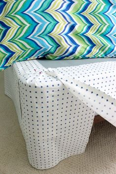 Driven By Décor: Simple DIY: Make a Bed Skirt From a Flat Sheet