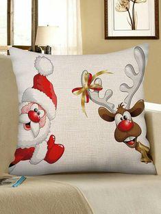 best=Christmas Santa Claus Elk Print Sofa Linen Pillowcase , Short prom dresses and high-low prom dresses are a flirty and fun prom dress option. Christmas Canvas, Christmas Paintings, Christmas Projects, Christmas Themes, Christmas Decorations, Christmas Cushions, Christmas Pillow, Christmas Snowman, Cheap Pillows