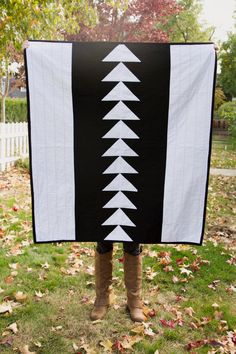 Black and White Triangle Quilt