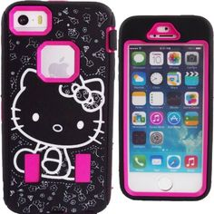 Cute Hot Pink Black & White Hello Kitty Hybrid Case for Apple iPhone 5 & 5S FINGERPRINT RECOGNITION ACCESS Shockproof Heavy Duty Anti-Slip Dual Layer Protective Shock-Absorbing Cute Bow Strong Cover + Screen Protector & Stylus FREE GIFT WATERPROOF PRINCESS KITTY STICKER Generic http://www.amazon.com/dp/B00K1LR1KK/ref=cm_sw_r_pi_dp_ETMYvb1FQ7257