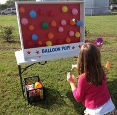 Dart Balloon Pop Carnival Game for Birthday, Church, VBS or School Party by NorTexEvents on Etsy https://www.etsy.com/listing/124551916/dart-balloon-pop-carnival-game-for
