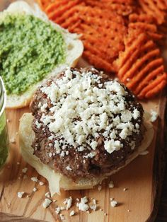 Cilantro chimichurri burger #summer #recipes - Without cheese and bun; perhaps different patty recipe