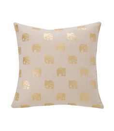 Lucky Elephant Foil Pillow