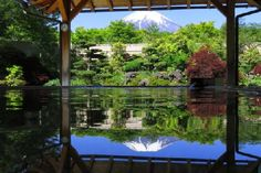 One of my favorite hot springs (Onsen) near Mt. Fuji.