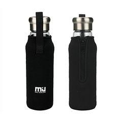 MIU COLOR® Stylish Portable Handmade Crystal Glass Water Bottle with Nylon Sleeve (18.5 Ounces, Designed in Switzerland) MIU COLOR® http://www.amazon.ca/dp/B00PQFMC6Y/ref=cm_sw_r_pi_dp_ff7-ub0D3628Y