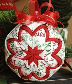 Handmade Quilted Christmas Ornament  Fun by NorthernKeepsakes, $12.00