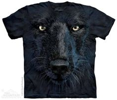The Mountain - Black Wolf Face T-Shirt, $20.00 (http://shop.themountain.me/black-wolf-face-t-shirt/)
