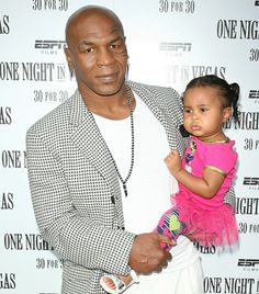 Mike Tyson with daughter Milan. #Kids #Clothes #Celebrities   http://www.devlishangelz.ca/