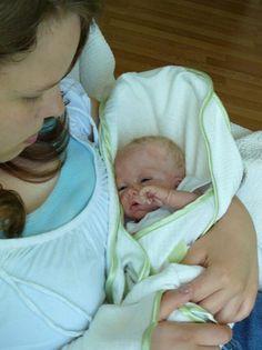 reborn doll she is holding Donna Lee Originals