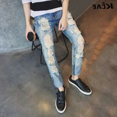 36.79$  Buy here - https://alitems.com/g/1e8d114494b01f4c715516525dc3e8/?i=5&ulp=https%3A%2F%2Fwww.aliexpress.com%2Fitem%2F2016-New-kanye-west-Ripped-jeans-pop-destroyed-large-hole-stretch-Slim-skinny-hip-hop-fashion%2F32710594179.html - 2016 New kanye west Ripped jeans pop destroyed large hole stretch Slim skinny hip-hop fashion men jeans