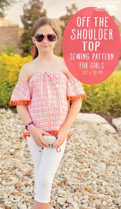 Off the Shoulder Top Sewing Pattern for Girls