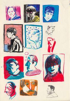 Sketchbook Portrait series on Behance Art Inspiration Drawing, Sketchbook Inspiration, Art Sketchbook, Art Inspo, Character Illustration, Graphic Illustration, Drawing Sketches, Art Drawings, Art Addiction