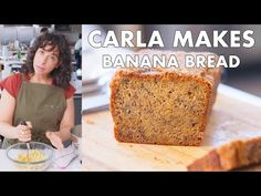 Join Carla Music in the Bon Appétit Test Kitchen as she makes BA's best banana bread. Here at BA everybody has their favorite banana bread recipe. Make Banana Bread, Banana Bread Recipes, Blueberry Bread, Banna Bread, Cooking Recipes, Healthy Recipes, Cooking Tips, Food Trends, Test Kitchen