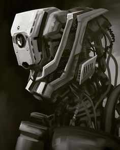 Freeform robot painting on my tablet... #AutodeskSketchbook #robot #digitalpainting #illustration #android #conceptart #galaxynote