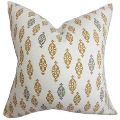Ziven Brown Feather Filled 18-inch Throw Pillow
