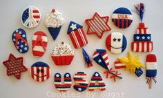 4th of July cookies