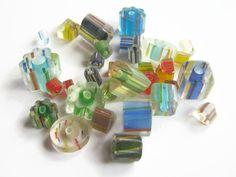 1/4 LB Mixed Lot Cane Glass Beads 4 Ounces by abundantearthsupply  #beadingsupply #beads #bead #caneglass #glassbeads #wholesalebeads #abundantearthsupply