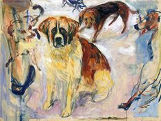 In the Kennel / Edvard Munch - 1913-1915