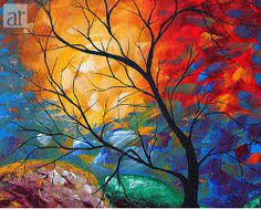 Megan Aroon Duncanson (MADART) has a distinct flair for modern/contemporary art. Her style and use of color are unmistakable. Bright, rich color and abstract composition draw the viewer in for a long Dream Art, Jolie Photo, Oil Painting Abstract, Abstract Trees, Mandala Painting, Abstract Paintings, Art Plastique, Landscape Paintings, Tree Paintings