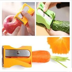 New 2014 Carrot Cucumber Sharpener Peeler Kitchen Tool Vegetable Fruit Curl Slicer