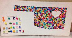 Oklahoma fingerprints School Art Auction @ Whimsy Living School Auction Projects, Class Art Projects, Collaborative Art Projects, Classroom Art Projects, Art Classroom, Auction Ideas, Classroom Ideas, Infant Classroom, Group Projects