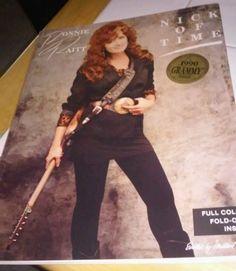 """BONNIE RAITT """"Nick of Time"""" Sheet Music Song Book - 1989 w/poster"""