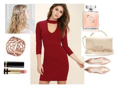 """Love for Red"" by lizzie-tee ❤ liked on Polyvore featuring LULUS, Maison Margiela, Nicholas Kirkwood, Tartesia and Gucci"