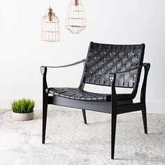 Amazon.com: Safavieh Couture Home Dilan Black Leather Weave Safari Accent Chair: Furniture & Decor Black Furniture, Shabby Chic Furniture, Cool Furniture, Outdoor Furniture, Furniture Design, New Living Room, Living Room Chairs, Living Area, Living Spaces