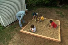 How To Build a Simple Sandbox (a sandbox was a serious requirement when my children were young; well worth the expense)