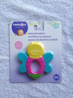 Babies R Us infant textured teether 3 months plus butterfly Babies R Us, Cute Babies, Baby Teethers, Teething Toys, Cute Baby Clothes, Baby Essentials, Baby Bottles, Baby Month By Month, Baby Feeding