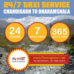 24/7 taxi service chandigarh to Dharamshala Flywings Tour & Travels #Tour #Travel #Taxi #Chandigarh #Dharamshala