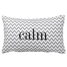 Grey and White Chevron Reversible Emotion Pillow