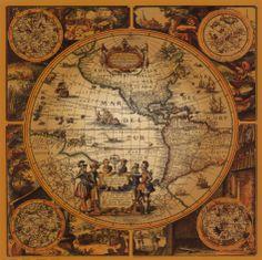 Framed Art Print 'Cartographica by Max Besjana 29 x (Max Besjana 'Cartographica Framed Art Print), Black, Amanti Art Antique World Map, Antique Maps, Vintage World Maps, Vintage Globe, Antique Prints, New World Map, Old World Maps, Treasure Maps, Wall Maps