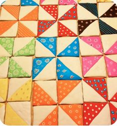 For quilters: quilt block cookies!