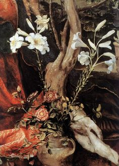 renaissance-art:Matthias Grunewald c. 1517-1519 Stuppach Madonna (detail)