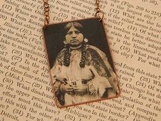 Native American necklace Cayuse Woman Native American Jewelry mixed media jewelry