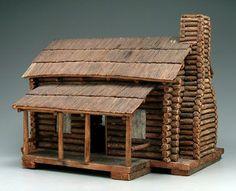 Wonderful log cabin dollhouse!