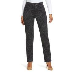 Women's Gloria Vanderbilt Amanda Classic Tapered Jeans, Size: 4 - regular, Black