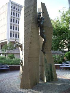 Holocaust Memorial, Elbert Weinberg, 1979. Located in Freedom Plaza, Wilmington, Delaware.At Louis L. Redding City County Building, 800 North French Street, Wilmington, DE.