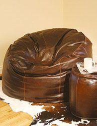 Leather Beanbag