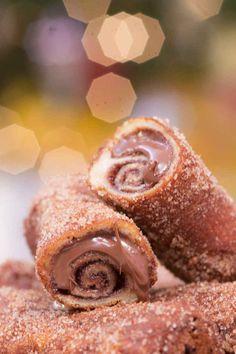Rabanada de Nutella.