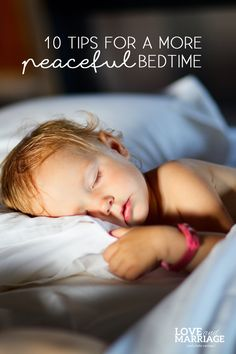 10 Tips for a More Peaceful Bedtime
