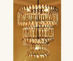 silver spoon chandelier
