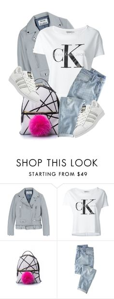 """""""What I'd Wear"""" by monmondefou ❤ liked on Polyvore featuring Acne Studios, Calvin Klein Jeans, Les Petits Joueurs, Wrap and adidas"""