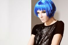 YPNO#madeinitaly#fashion#collection#futuristic#mood#totallook#bluehair#model#eyes