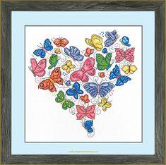 Butterfly Cross Stitch, Crosses, Chart, Summer, Fabric, Tejido, Summer Time, Tela, Cloths