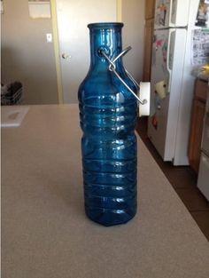 16 1oz Cobalt Blue Olive Leaf Multi Purpose Kitchen Oil Liquid Hand Dish Soap Decorative Gl Bottle Dispenser Designer
