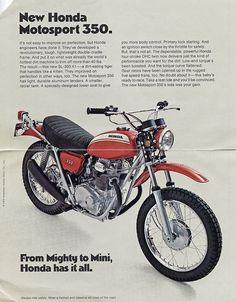 Trail Motorcycle, Motorcycle Posters, Scrambler Motorcycle, Motorcycle Touring, Honda Dirt Bike, Honda Bikes, Dirt Bikes, Retro Bike, Retro Motorcycle