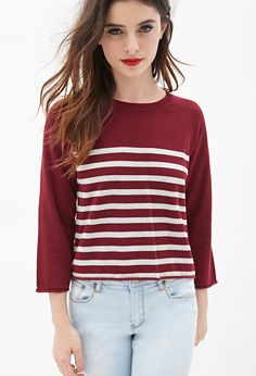 Striped Cropped Sweater | FOREVER21 - 2055879445
