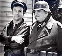 "Hogan's Heroes - Bob Crane  loved that show! ( "" I know nothing, I see nothing"" as Shultz would say)"